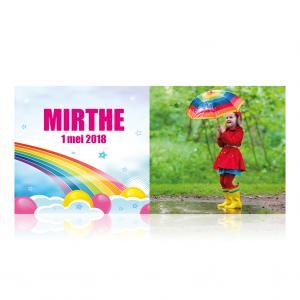Fotokaart regenboog