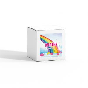 Sticker vierkant 40mm regenboog