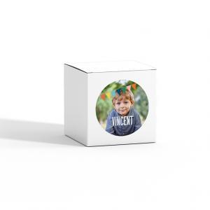 Sticker rond 40mm driehoekjes