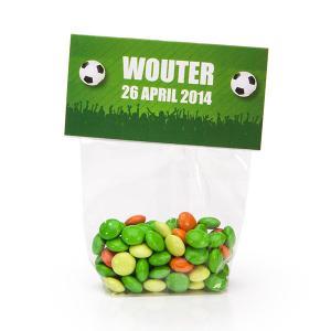 Snoeplabel voetbal