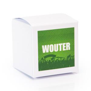 Sticker vierkant 40mm voetbal