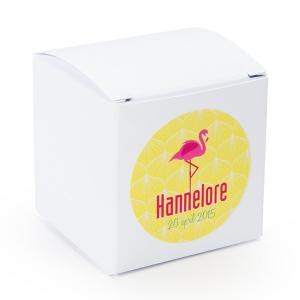 Sticker rond 40mm flamingo