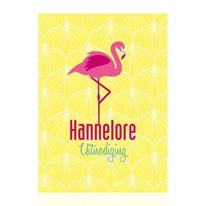 Uitnodiging flamingo