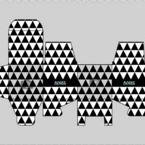 Kubusdoosje zwart wit 1