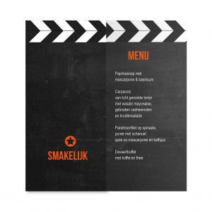 Menukaart filmklapper