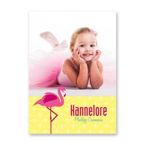 Poster A3 flamingo
