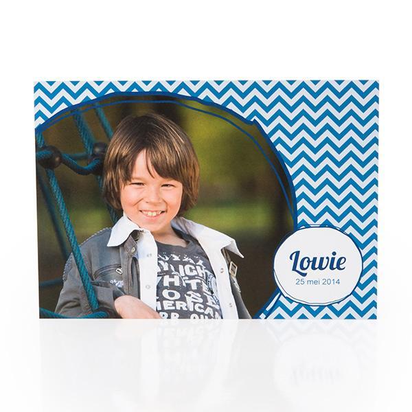 Fotokaart visgraat blauw