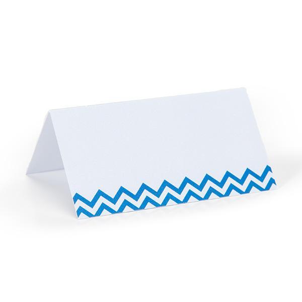 Tafelkaartje visgraat blauw