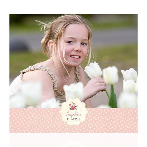Fotokaart retro roosjes