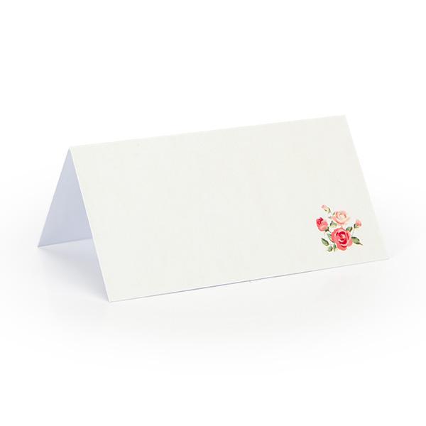 Tafelkaartje retro roosjes